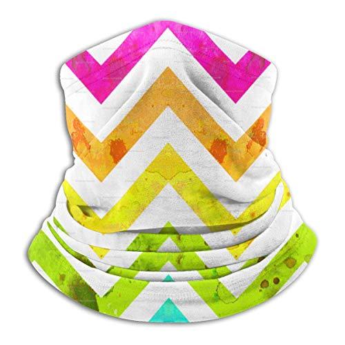 Kleurrijke Zig-zag Neck Gaiter Warmer Winddicht Masker Stof Gezicht Kleding UV Gezicht Masker Balaclava Sjaal voor Ourdoor Sport Zwart