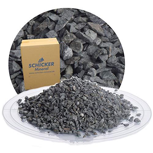 25 kg Pflastersplitt 2-5 mm aus Diabas Splitt von Schicker Mineral für eine stabile, drainagefähige Pflasterbettung