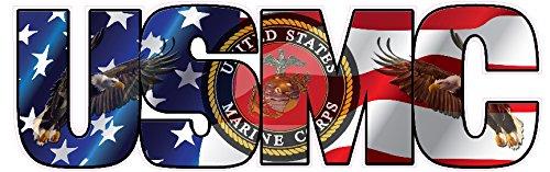 USMC Marine Corps American Flag Eagle Lettering Decal 8