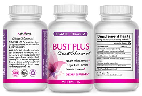Breast Enhancement and Enlargement Pills for Women- All Natural Bust Enhancer Works Fast- Fuller, Firmer and Larger Breasts- 90 Vegan Caps