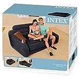 Intex Pull-Out Sofa Aufblasmöbel -  Ausziehbares Sofa -  193 x 221 x 66 cm - Schwarz - 3