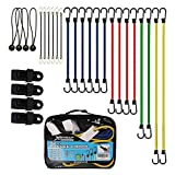 XSTRAP 28-Piece Bungee Cords with 4 Tarp Clips