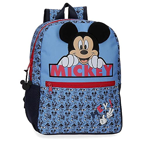 Disney Mickey Moods Sac à dos adaptable au chariot Rouge 25x32x12 cms Polyester 9.6L