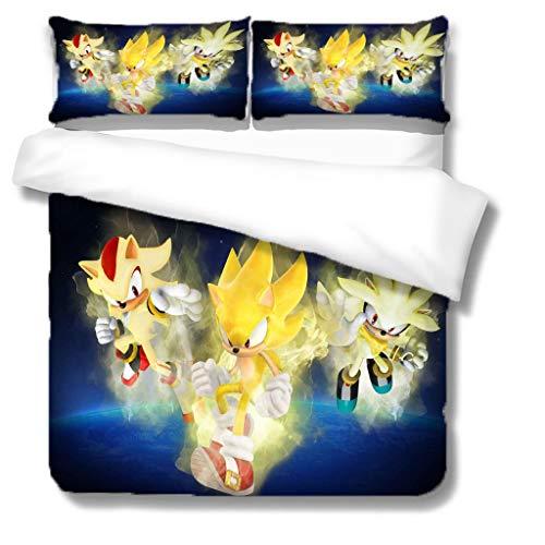 XWXBB Juego de ropa de cama de 3 piezas, funda de edredón infantil con dibujos animados en 3D, duradera y respetuosa con la piel, adecuada para dormitorios o invitados (X03, King240 x 220 cm)
