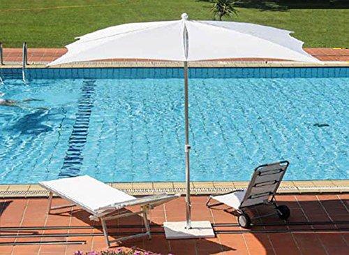 PEGANE Parasol centré en Polyester, Monture alu mm 35/40, cm 250x250/8