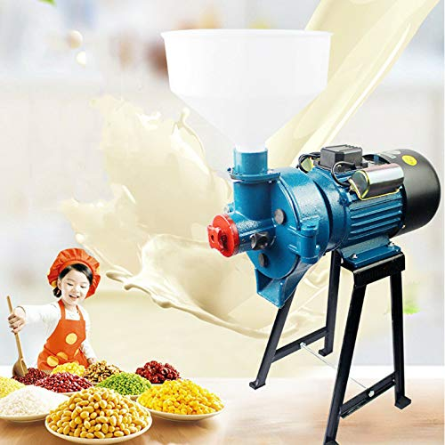 2 In 1 Electric Grinder Machine Wet and Dry 2200W Heavy Duty 110V Electric Mill Dry Grinder Machine for Corn/Rice/Wheat/Grains/Coffee Beans +Funnel, With a Thickness Regulator (140 Type/2200W) -  Ethedeal