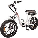 DJ Super Bike Step Thru 750W 48V 13Ah Power Electric Bicycle, Pearl White, LED Bike Light, Suspension Fork and Shimano Gear