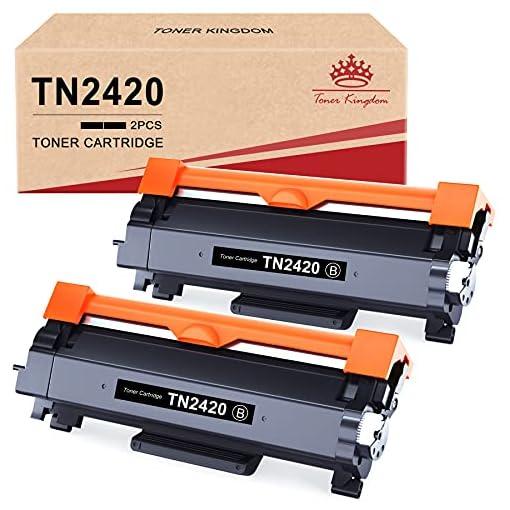 Toner Kingdom TN2420 Cartucho Toner Compatible para Brother TN2420 TN2410 para Brother MFC-L2710DW HL-L2350DW DCP… 1