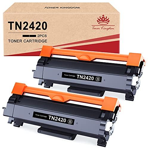 Toner Kingdom Compatibili Cartucce Toner Sostituzione per Brother TN2420 TN-2420 TN2410 per MFC L2710DW L2710DN L2730DW L2750DW HL L2310D L2350DW L2370DN L2375DW DCP L2510D L2530DW L2550DN