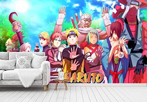 Blovsmile Uzumaki Naruto Gaara/Killer Bee 3D Wall Tapete Wallpaper Poster Kids Room Living Decoration Mural-400 * 280