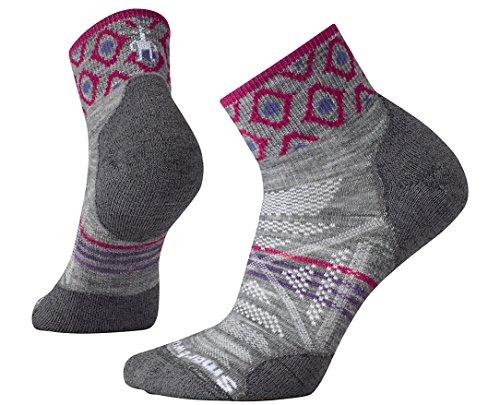 SmartWool Women's PhD Outdoor Light Pattern Mini Socks (Light Gray) Small