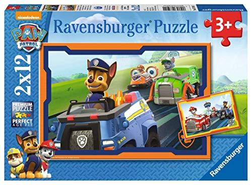 Ravensburger - Puzzle 2 x 12, Paw Patrol B (07591)