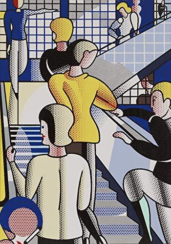 Filmposter Roy Lichtenstein Bauhaus Stairway – Beste Druck-Kunstreproduktion Qualität Wanddekoration Geschenk – A1 Poster (84/59 cm) – Hochglanz-Fotopapier