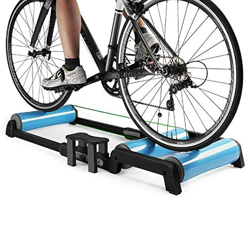 CRXL shop-Mantas Eléctricas Rodillo para Bicicleta Interior Ajustable, Pedal Antideslizante, Fácil Transportar, Silencioso, Bajo Nivel De Ruido para Entrenamiento Ejercicio En Bicicleta En Interiores
