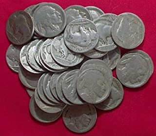 Set of 5 No date buffalo nickels, dated 1913-1937