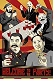 Welcome to The Party Poster Communist Wall Art Soviet Decor Leaders Chairman Mao Stalin Marx Lenin Castro Funny Cold War Propaganda Russian Cool Wall Decor Art Print Poster 24x36