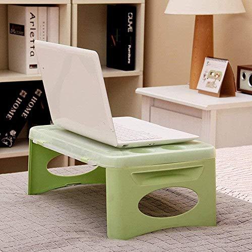 Lazy Table - Cama de almacenamiento plegable de plástico para uso automotriz, pequeña mesa de aprendizaje para ahorrar espacio