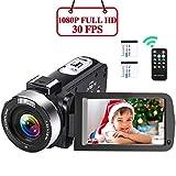 Videocamera Videocamere Full HD 1080P Videocamera 30FPS 16X Digitale Zoom...