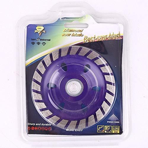 4 Diamond slijpen wiel, beton Turbo diamant slijpen Cup wiel voor hoek slijper beton marmer werkbladen Tilers Paars
