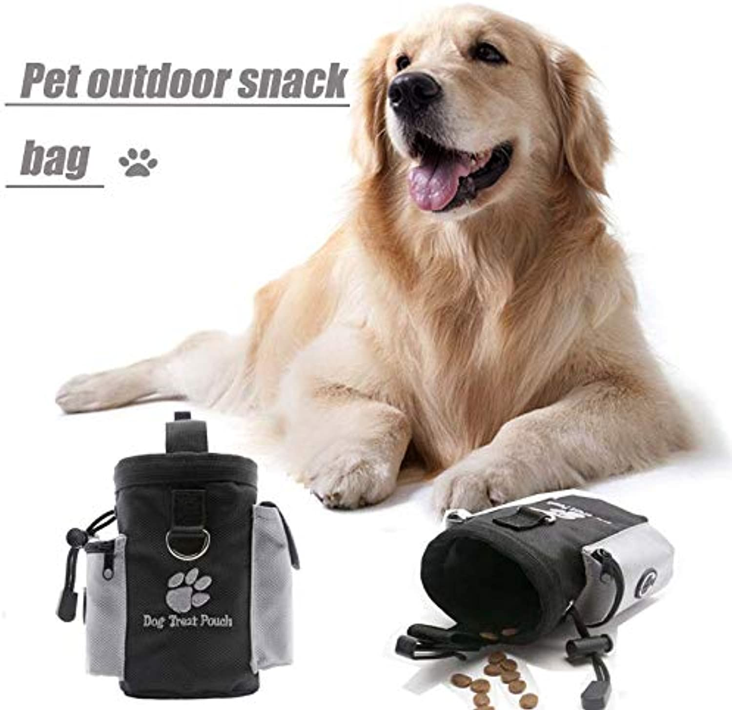 Pet Out Snack Bag,Pet Snack Bag Dog Training Bag,Pet Out Snack Container Sports Running Drawstring Waist Pocket