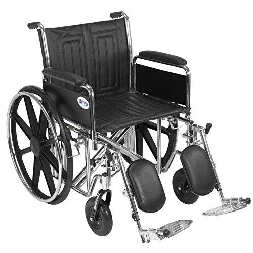 Drive Medical Sentra EC - Reposapiés desmontables para silla de ruedas (60,96 cm)