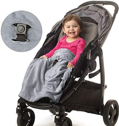 Non Slip Stroller Blanket by Intimom Soft Baby Blanket for Infant Car Seat Universal Fit for product image