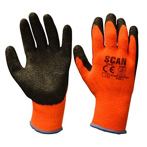 Scan Thermo Latex beschichtet Handschuh Größe 9(L) (5Stück)