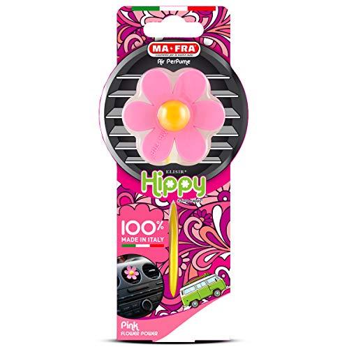 Ma-Fra Ambientador para CochesHippy Flower Power, Rosa, Referencia H0383