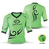 OPTIMUM Tribal Top Boys Protection Coussinets d'épaule Large Fluro Green/Black