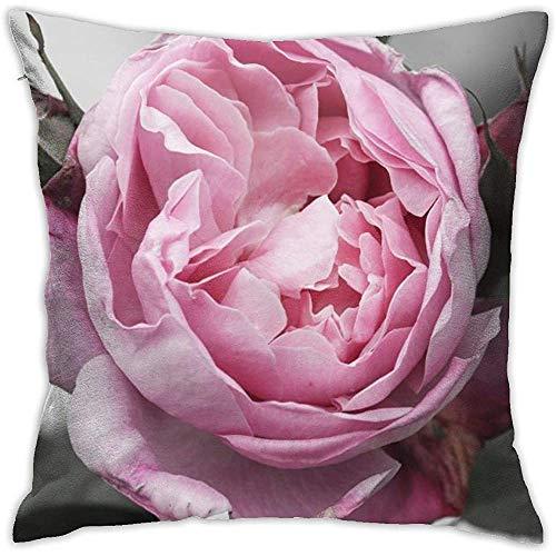 July Rose Bloom decoratieve kussenovertrek van polyester, voor woonbank, slaapkamer, auto, stoel, huis, party