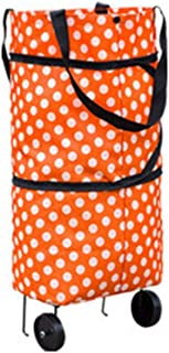 Mandalaa Fashionable Design Large Capacity Waterproof Oxford Cloth Foldable Shopping Trolley Wheel Bag Traval Cart Luggage...
