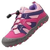 Zapatos Montaña Niña Zapatillas Senderismo Niños Bambas de Ligero para Niñas Calzado Trekking Rosa 28 EU