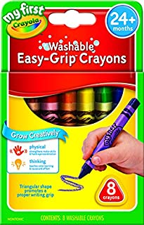 My First Crayola Washable Triangular Crayons, 8pk, Learning Grip, 2 years, 3 years, 4 years, pre-school, kindergarten, art...