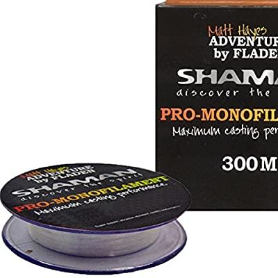 Matt Hayes SHAMAN PRO 300m Spools of Maximum Casting Performance Monofilament Coarse Fishing Line (range covers from 4.4 to 20lb) from FLADEN