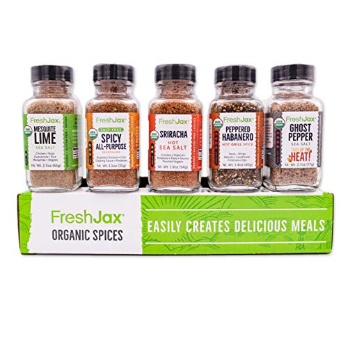 FreshJax Hot & Spicy Seasonings Gift Set, (Set of 5)