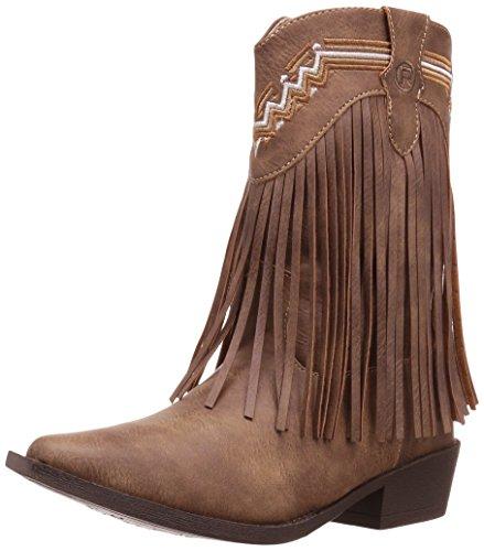 Roper Girls' Fringes Western Boot, Tan, 3 Child US Little Kid