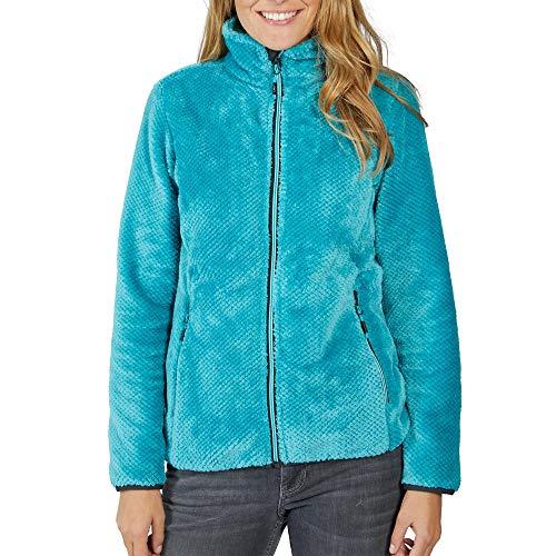 CMP Damen High-loft Fleece Jacke 39P0126, Curacao (Türkis) 48, Farbe:Türkis, Größe:44