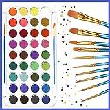 Watercolor Paint Set, 321OU 36 Colors Professional Watercolor Paint with 12 Pcs Watercolor Artist Set Brush for Kids Adults Artists Students