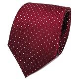 tigertie - cravatta in seta - rosso bordò argento a pois - cravatta in seta