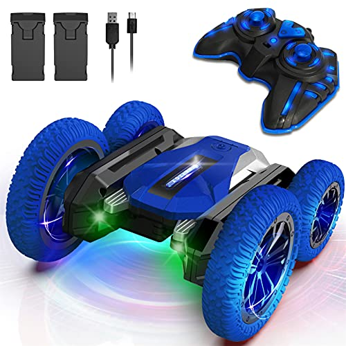Wsiyen Remote Control Car for Kids, Toys for 6 7 8 9-14 Year Old Boys, Double Sided 360°Rotating RC...