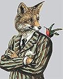 DIY Kit 5D pintura diamantes por número Zorro veloz - Adulto Niño Cristal Rhinestone bordado punto cruz Pasted arte lienzo manualidades decoración hogar 30x40cm