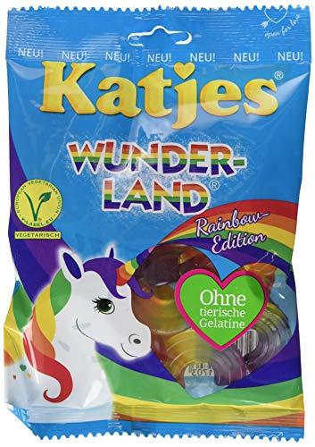 Katjes Wunderland Rainbow-Edition - Leckeres Fruchtgummi in magischen Formen und Farben - inspiriert von den Farben des Regenbogens, 20er Pack (20 x 200 g)
