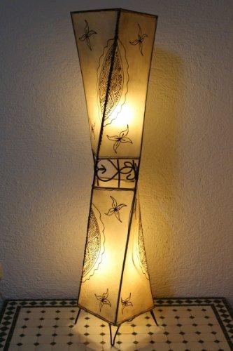 Marrakesch Henna Carré - Lámpara de pie (98 cm, piel), diseño oriental