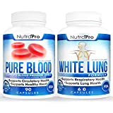White Lung by NutraPro - Lung Cleanse & Detox+Blood Pressure Support Supplement – Healthy Heart,Cholesterol Level, Cardiovascular Support.