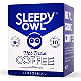 100% Arabica Coffee Brew fresh hot Coffee. No equipment required. Brew anywhere! Each pack makes 1 solid cup of Sleepy Owl Coffee Proprietary filter bag - Flavour seeps through. Grounds Stay out. Stays fresh for 6 months, stored in a cool and dry pla...