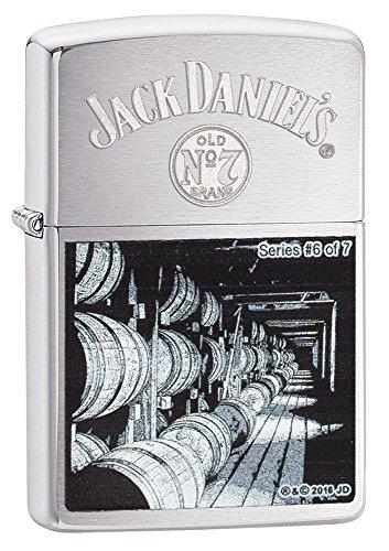 Zippo Zippo Jack Daniel's 6 of 7-Limited Edition Feuerzeug, Chrom, 5.8 x 3.5 x 2 cm Chrome