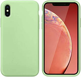 JFX Gel Rubber Shockproof Slim Phone Case Compatible with iPhone XR Case Soft Liquid Silicone Case for Apple Phone XR 6.1 Inch Green