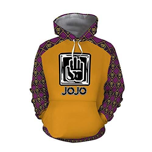 JoJo's Bizarre Adventure Jotaro Kujo Costume Anime Cartoon Cosplay Hoodie 3D Printed Zipper Jacket (Medium, Style 2)