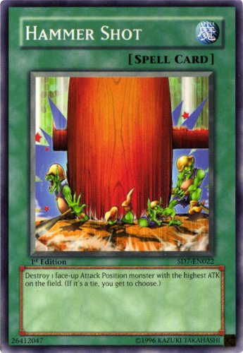 Yu-Gi-Oh! - Hammer Shot SD7 (SD7-EN022) - Structure Deck 7: Invincible Fortress - 1st Edition - Common