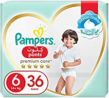 Pampers Premium Care Pants Diapers, Size 6, Extra Large, 16+ kg, 36 Count